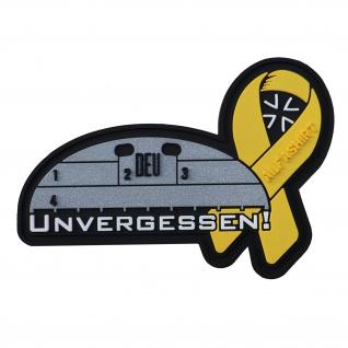 3D Patch Unvergessen Gelbe Schleife Alfashirt Erkennungsmarke Bundeswehr #32706