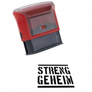 Automatikstempel Streng Geheim Bundeswehr Militär Dokumenten 14x38mm #12122