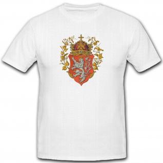 Königreich Böhmen Tschechien Heimat Wappen Abzeichen Emblem- T Shirt #5404