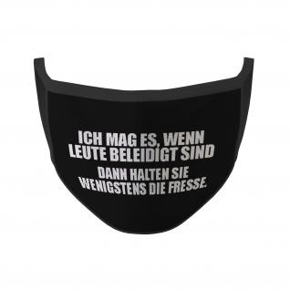 Mund Maske Beleidigte Leute halten wenigstens die Fresse Fun Humor #35385