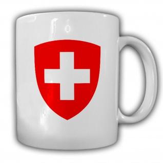 Schweiz Wappen Eidgenossenschaft Emblem Kaffee Becher Tasse #13889