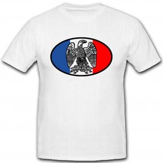 Adler Frankreich Wappen Abzeichen Fahne Flagge Militär - T Shirt #2652