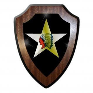 2nd Inf Div US Infanteriedivision Army Indianer Militär Wappenschild #19913