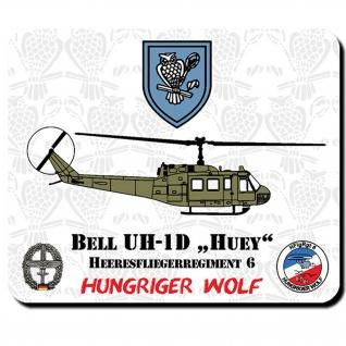 HFlgRgt 6 Heeresfliegerregiment 6 Hungriger Wolf Bell UH-1D HUEY Mauspad #11126