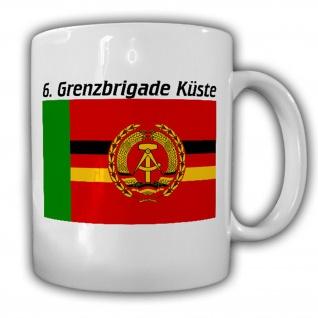 Tasse 6 Grenzbrigade Küste GBrK GBK Grentruppen DDR NVA Marine Wappen #17468