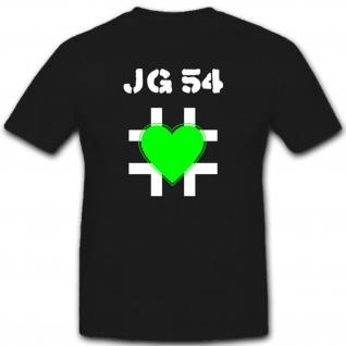Jagdgeschwader Militär Luftwaffe WH Einheit Wappen Abzeichen- T Shirt #2064