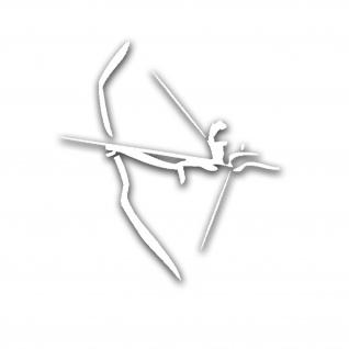 Bogensport Schießen Bogen Pfeile Sticker Bogenschütze Aufkleber 10 x 9 cm A5178