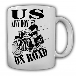 US Navy Boy on Road Tasse Kaffeebecher US Navy Militär Soldaten Seemann #22544