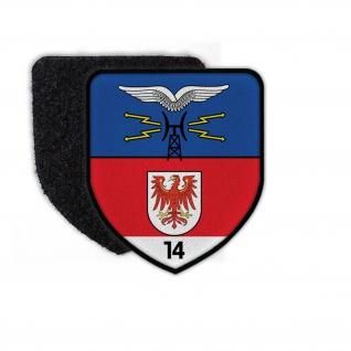 Patch Fernmelderegimet 14 FmGer aufnäher Klett Flausch Wappen #25086