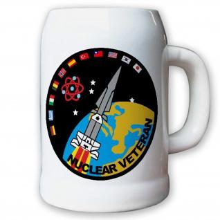 Krug / Bierkrug 0, 5l - Nuclear Veteran Hercules Rakete Atom Emblem #8666 B