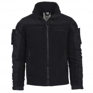 Tactical Commando Fleecejacke Security Jacke schwarz Fleece Vest Dienst #13415