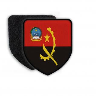 Patch Angola Luanda Jose Eduardo dos Santos Flagge Messer Stern Buch Land #21903