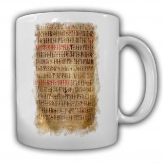 Codex Wikinger Sprache Skandinavische Runen Landesrecht Futhark - Tasse #16910