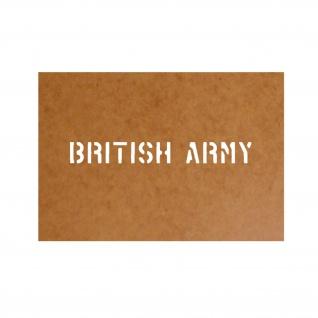 British Army Ölkarton Schablone Auto Army Bundeswehr Royal Großbritanien #26199