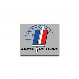 Aufkleber/Sticker Armee de Terre Landstreitkräfte Frankreich Militär 7x8cm A1472