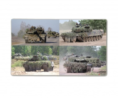 Poster M&N Pictures Leopard 2 Collage Panzer-Kompanie 2A6 ab30x18 #30283