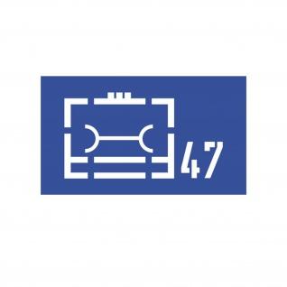 Lackierschablonenaufkleber Logistikregiment 47 Taktisches 10cmx5cm#A4318