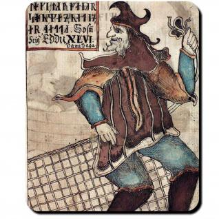 Loki Abbildung Fischernetz isländische Eddahandschrift 1867 4to Mauspad #16099