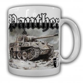 Tasse Lukas Wirp Panther Panzer V Ostfront Winter Schnee Division #24111