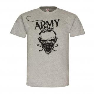 Army Soldier Skull Militär Army Armee Einheit Truppe T-Shirt #23879