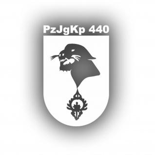 Aufkleber/Sticker PzJgKp 440 Panzerjägerkompanie Wappen Abzeichen 15x10cm A592