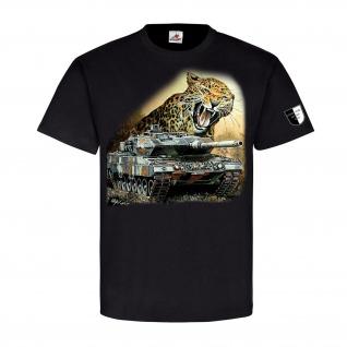 Lukas Wirp Leo 2 mit Leopard Panzer Bundeswehr Gemälde Militär T Shirt #23392