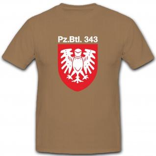 Panzerbataillon 343 Pzbtl343 Bundeswehr Abzeichen Wappen T Shirt #2148