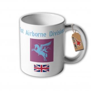 Tasse 1st Airborne Division Parachute Operation Biting England Abzeichen #32363