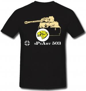 Spzabt 503 Feldherrnhalle WH Btl Abt Wappen Tiger 1 Front - T Shirt #1267