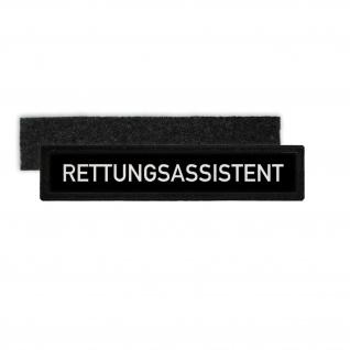 Rettungsassistent Sanitäter Uniform RettAss RA Namensschild Patch #26705