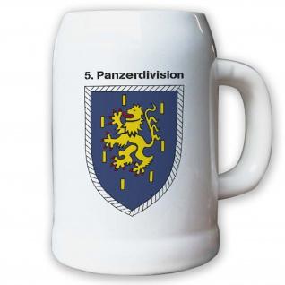 Krug / Bierkrug 0, 5l -Bierkrug 5. Panzerdivision_Bundeswehr PzDiv Wappen #12935