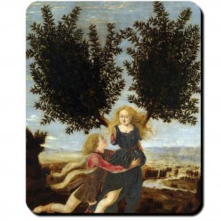 Apollo Daphne Gemälde 15 Jahrhundert Pollaiuolo Mythologie Mauspad #16421