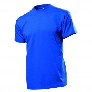 T-Shirt royalblau Männer Rundhals 100% Baumwolle 185 g-m² - T Shirt #12826