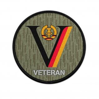 Patch NVA DDR Veteran Dienstzeit Strichtarn Reservist Nationale 9cm#36710