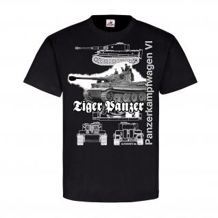 Tiger Panzer TYP VI 20701 Panzerkampfwagen Bild Bauplan Legende T-Shirt #20701