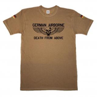 German Airborne Totenkopf Eisernes Kreuz original Tropenshirt #14685