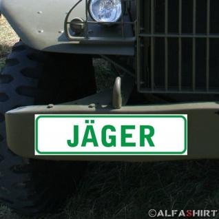 Magnetschild Jäger Infanterie Jagdrevier Wild Wald Förster Schütze Betrieb #A341