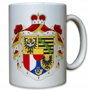 Lichtenstein Land Staat Heimat Wappen Abzeichen Emblem - Tasse Kaffee #9528