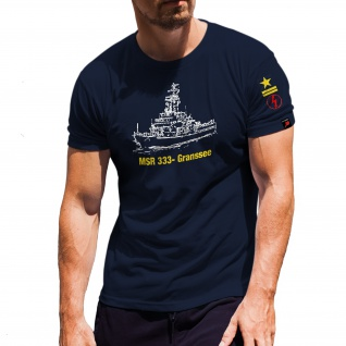 MSR 333 Gransee 4 Flottille Warnemünde Funk MSRA NVA Marine DDR T Shirt #30737