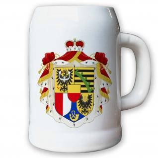 Krug Bierkrug 0, 5l Liechtenstein Königreich konstitutionelle Erbmonarchie #9424