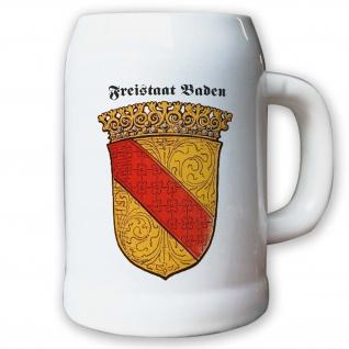 Krug / Bierkrug 0, 5l - Freistaat Baden Republik Weimarer Republik Abzeichen#9454