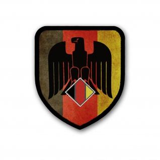 Patch Bundes-Adler Deutschland schwarz rot gold DEUTSCH Aufnäher #36925