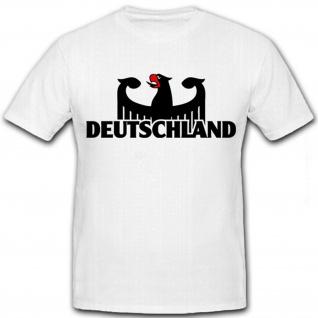 Deutschland Adler Bundesadler Staatswappen BRD - T Shirt Herren #8648