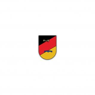 Aufkleber/Sticker ABCAbwBtl 900 Bataillon BW Bund Wappen Abzeichen 5x7cm A2492