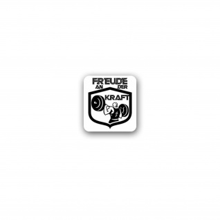 Aufkleber/Sticker Freude an der Kraft Gym Fitness Studio Gewicht 7x7cm A3519