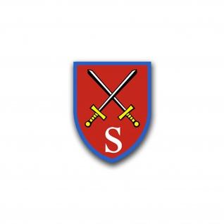 Aufkleber/Sticker Stabsschule des Heeres Heer Wappen Abzeichen Emblem 6x7cm A824