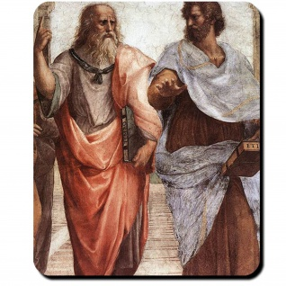 Platon und Aristoteles Schule Athens 1509 Atlantis Philosoph Mauspad #16417