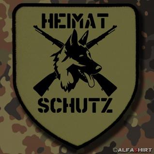 Patch / Aufnäher - Heimatschutz Aufnäher-Schäferhund DSH 98K Gewehr #8171