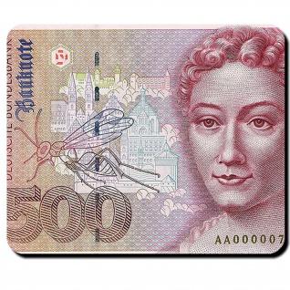 500 Mark Geldschein Währung Deutsche Mark Banknote Maria Sibylla Mauspad #16348