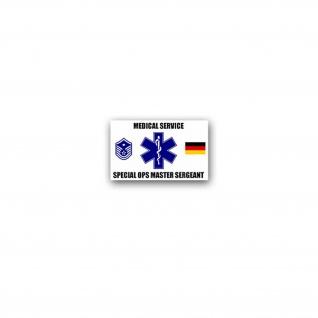Medical Service Special Ops Master Sergeant Aufkleber Sticker MSG 11x7cm#A3595
